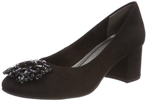 22441, Zapatos de Tacón Para Mujer, Gris (Dkgrey Comb), 37 EU Marco Tozzi