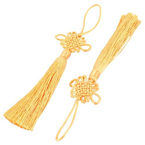 sourcingmap® Fait principal tricoté Polyester Accueil Artisanat Décoration ornement noeud chinois Tassel 2pcs