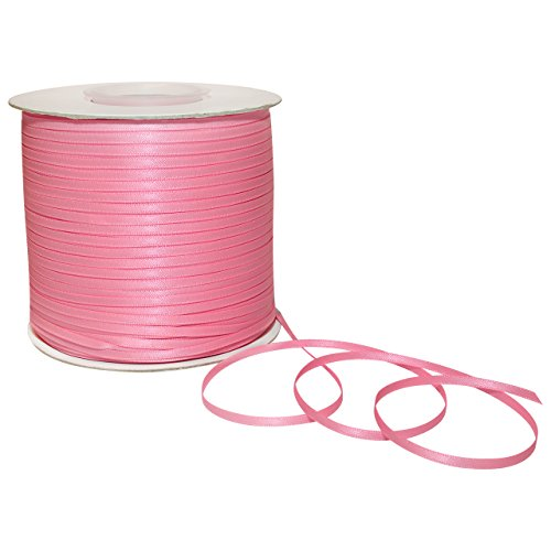Morex Doppelseitiges Satinband 1/8 Inch by 500 Yards Geranium Pink -
