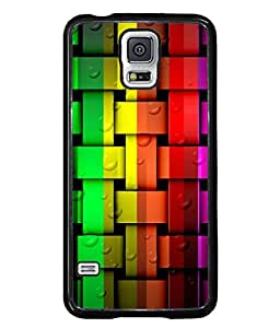 PrintVisa Designer Back Case Cover for Samsung Galaxy S5 Neo :: Samsung Galaxy S5 Neo G903F :: Samsung Galaxy S5 Neo G903W (Colourful Stripes With Water Bubbles)