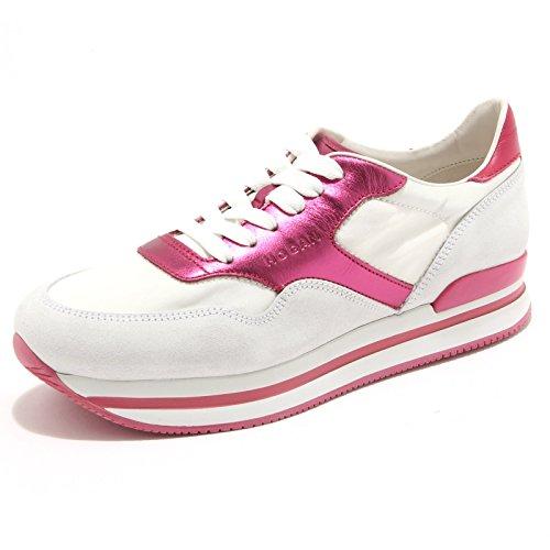 7106F sneaker HOGAN H222 NUOVO SPORTIVO XL scarpa donna shoes women Bianco/Fucsia
