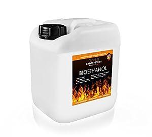 Bio Ethanol 100% unser Bio Ethanol ist ein Naturbrennstoff (Bioalkohol) mit einem Ethanolgehalt von 100 Vol.% und ist außen und innen vielseitig einsetzbar. Das Bio Ethanol ist ideal für Ethanolkamine, Alkoholbrenner, Terrassenfeuer, Raumfeuer, Stand...