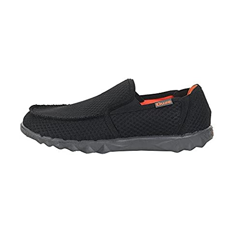Dude Shoes Men's Farty Sox Mesh Black Slip On / Mule UK7 / EU41