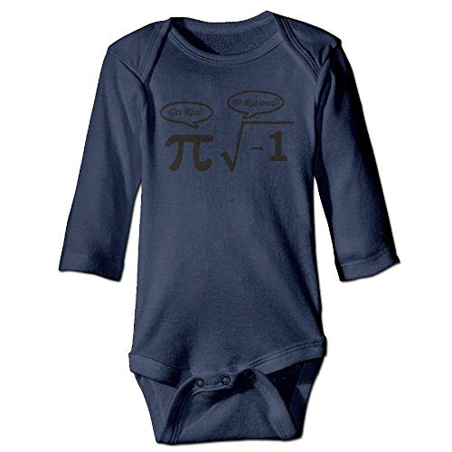 ARTOPB Unisex Infant Bodysuits Nerd Geek PI Baby Babysuit Long Sleeve Jumpsuit Sunsuit Outfit Navy