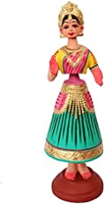Ancient Living Handcrafted Terracotta Dancing Doll from Kondapalli