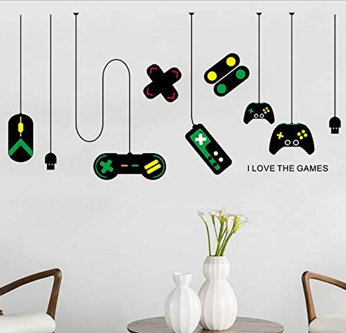 Spielmaschine Spiel Griff Dekoration Kronleuchter Wandaufkleber Lnternet Cafe Wohnkultur Hintergrund Aufkleber Wandbild 80 * 140 cm
