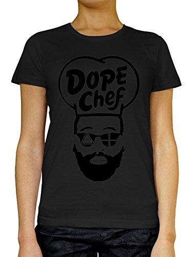 LukeTee Dope Chef Hipster Beard Sunglasses Women's T-Shirt Large