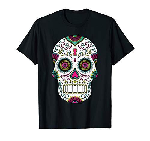 Tag Der Toten Zucker Schädel Dia De Los Muertos Hemd (Tag Der Toten Zucker Schädel Kostüm)