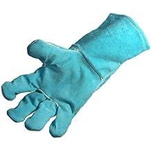 WOODBURNER Gloves High Temperature Stove Long Lined Welders Gauntlets Logs