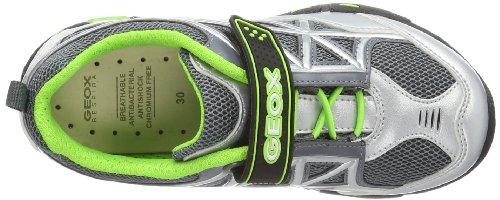Geox JR LIGHT ECLIPSE A J4210A01454C Jungen Sneaker Silber (SILVER/FLUOGREEN C1373)