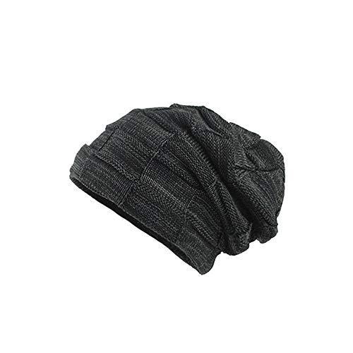 (UJUNAOR Männer Frauen Tarnen Mütze Herbst Winter Kopfbedeckung Warme Baggy Camouflage Crochet Ski Beanie Caps Hut (Medium, Z2-Schwarz))