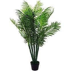 Sarah B XXL Phoenix Palme. Farnpalme, Kokospalme JWT1583 Riesige künstliche grüne Phoenix Palme, Farnpalme 130 cm hoch, Kunstpflanze, Kunstblume, Kunstbaum, Zimmerpflanze künstlich