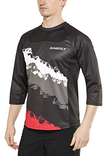 Ghost all Mountain Vent Jersey 3/4 MTB Ciclismo 2017, Nero