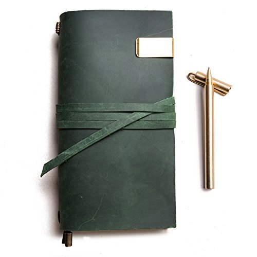 IPBEN Leder Tagebuch Mädchen für erwachsene Vintage Notizbuch Notizblöcke , eines kriegers Schreiben Klassische Reisetagebuch, Beste Kunst Einband Zu Schreiben In, handgefertigten bindung seil für geschenk,Standard size 8.7W × 4.9L Inches grün
