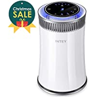 INTEY Hepa Air Purifier - No Ozone,True HEPA &Active Carbon Filters, 8H Timer, Air Purifiers for Allergies/Smoke - Removes 99.97% Dust, Pollen, Pet Dander (322 sq.ft/ 30 m², CADR Rated 140+)
