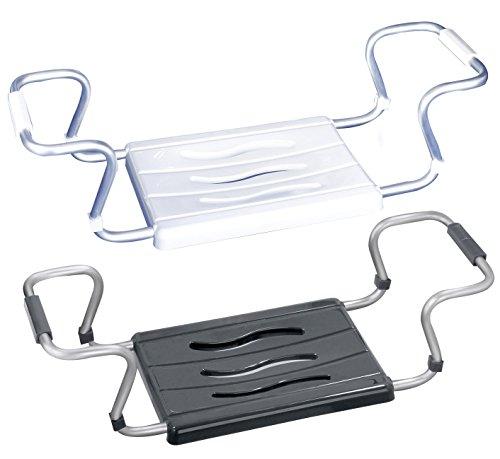 Wenko 17930100 Badewannensitz Secura Weiß - ausziehbar, 150 kg Tragkraft, Kunststoff, 55-65 x 18 x 26 cm, Weiß
