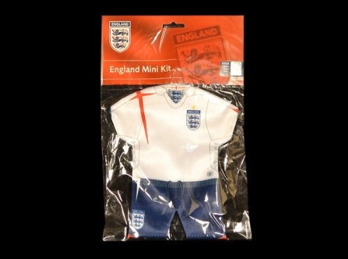 England F.A. Original Minikit fürs Autofenster Trikot+Shorts Kit / Set NEU EURO 2012 OVP (Euro-2012-trikot)