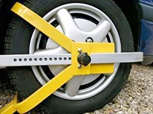 Fast Fit Security Car Caravan Wheel Clamp - Yellow by 3M