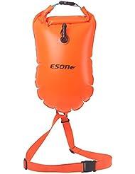 Esone- 15L Bain de sécurité flotteur et sac étanche pour ouvrir l'eau Nageurs, Triathlètes, Kayakers et professionnels sans danger Swim d'entraînement