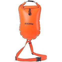esone- 15L natación boya de seguridad y bolsa seca (temporada para abierto agua nadadores, triatletas, kayakers y snorkelers seguro natación