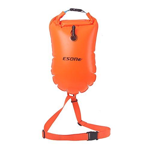 Esone, sacca galleggiante di salvataggio da 15 litri per nuotatori in mare aperto