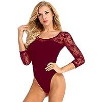 iixpin Justaucorps de Ballet Gymnastique Classique Femme Justaucorps de  Danse Robe de Gym Bodysuit Bodydoll Jumpsuit 18a7dffa8f9