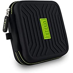 TIZUM Earphone EVA Carrying Case - Multi Purpose Pocket Storage Travel Organizer Case for Headphone, Pen Drives, Memory Card, Data Cable (Black)
