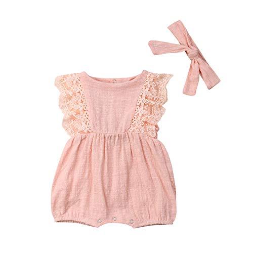 Für Jährigen Kostüm Neun - Wang-RX Sommer Neugeborenen Baby Mädchen Kleidung Spitze Rüschen Baby Strampler Overall Kleinkind Baby Mädchen Kostüme