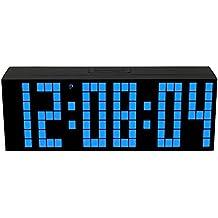 LambTown Orologio da Parete Digitale a LED con Calendario di Temperatura del Timer di Conto Alla Rovescia - blu