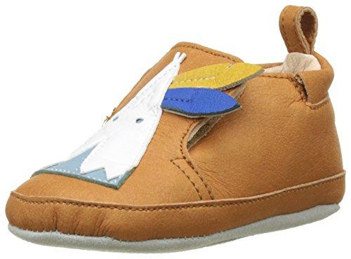 Shoo Pom Chou Tipi, Chaussures de Naissance Bébé Garçon Multicolor (Camel Multi)
