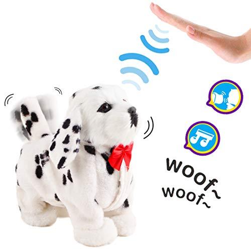 deAO Interactive Elektronisches Haustier-Hundespielzeug mit Bellen, Gehen, Schwanzwedeln, Berührungserkennung und Musikfunktionen für - Elektronisch Hundespielzeug