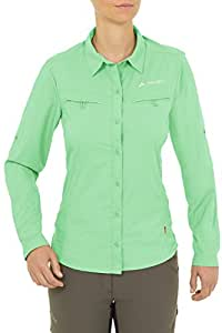 Vaude Farley Chemise manches longues Femme May Green FR : XL (Taille Fabricant : 44)