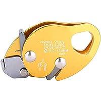 Pinza para Cuerda de Escalada, Freno automático Stop Descender para 11-12.5mm Pinza para Abrazadera de Cuerda Rescate Anillo de Rappel Engranaje de Escalada