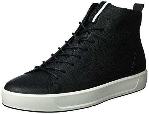 High-top Männer (Ecco Herren Soft 8 Men's High-Top, Schwarz (Black), 44 EU)