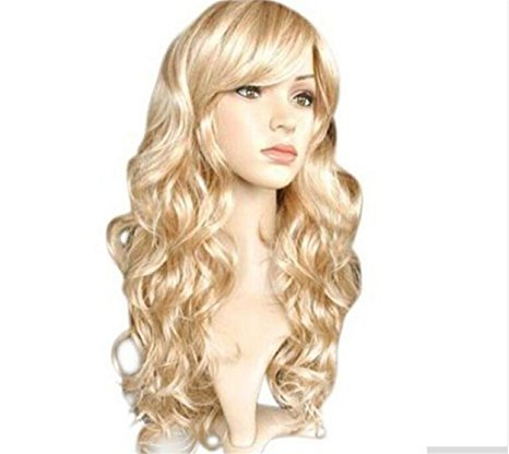 futuretrend® 50cm lange Mix Licht blonde und Gold Frauen gewellt Fashion (Ia Kostüm Cosplay)