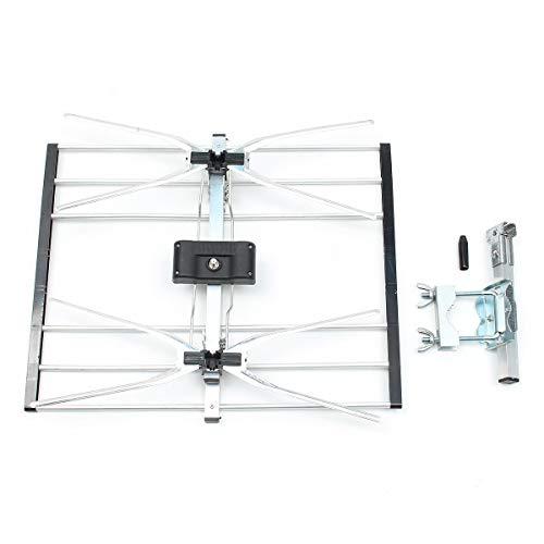 Exinnos HDTV Digital Indoor Outdoor TV Antenna Motorized 150 Mile Range 50x39cm - TV Receiver & Accessories