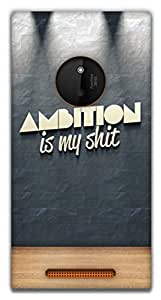 The Racoon Grip ambition hard plastic printed back case / cover for Nokia Lumia 830
