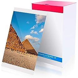 Compatible Selphy Encre et papier KP-108IN Papier Photo, Compatible avec Imprimante Canon Selphy CP1200 CP1300 CP1000 CP800 CP810 CP910(3 Cartouche d'encre, 108 feuilles de papier) 100 x 148mm