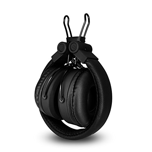 MuveAcoustics Impulse Wired On-Ear Headphones with Mic and Heavy Bass (Steel Black)