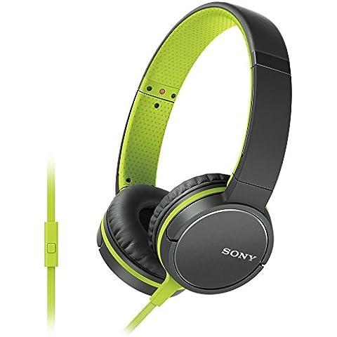 Sony MDR-ZX660AP - Auriculares de diadema abiertos (con micrófono, control remoto integrado, 3.5 mm), verde