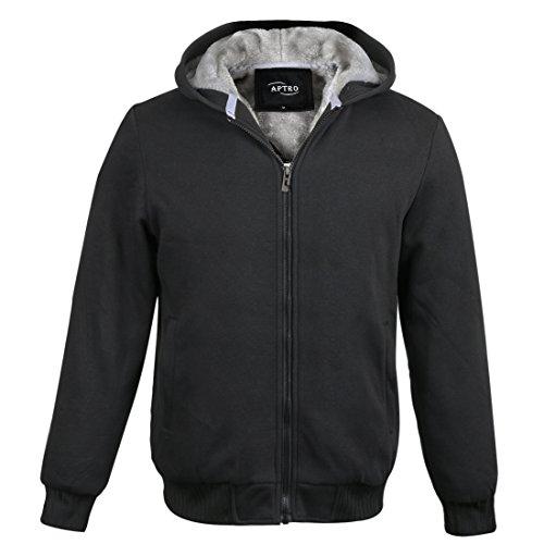 APTRO Herren Baumwollmischung mit Fleece-Futter-Winter-warme Hoodie Sweater