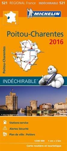 Carte Poitou Charentes 2016 Michelin 695EUR Acheter Sur
