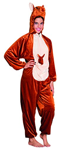 Teenagerkostüm Känguru Plüsch (Ganzkörper-kleidungsstück)