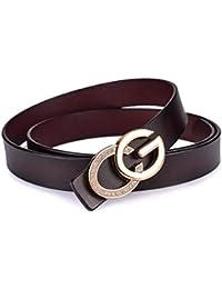 GAOQINGFENG Nuova Cintura da Donna, Cinturino con Fibbia, Decorazione Casual Wear beltCoffee100cm