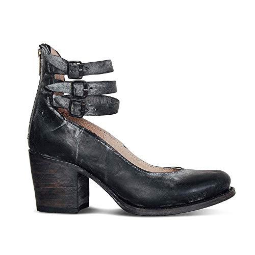 Damen Pumps Mary Janes mit Blockabsatz Plateau Frauen Chunky Heels 5 cm Sommer Frühling Party Schuhe Schwarz 40 Block Heel Mary Jane Pump
