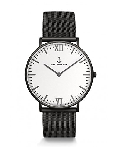 Kapten & Son Herrenuhr Midnight Mesh - Campus Midnight Mesh