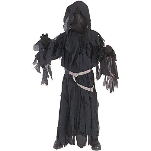 Herr der Ringe: Nazgul Ringwraith Kostüm Kinder schwarz, Größe: S - 122 (Ringwraith Kostüm)