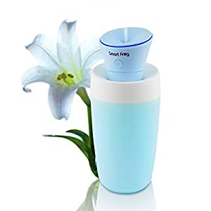 MAOZUA Mini usb Humidifier 40ML Humidifing Capacity Mist Humidifier Travel Size Diffuser with Smart Switch Long Standby Time Super Quiet for Car Home Travel Yoga Office Water Bottle Included