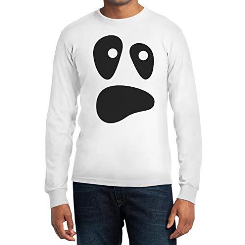 Face Kostüm Ghost Killer - Witzige Ghoul Face Halloween Ghost Kostüm Männer Sweatshirt Langarm T-Shirt X-Large Weiß