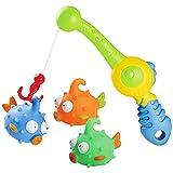 Markc Giocattoli da bagno con simpatici pesci maculati e canne da pesca Il gioco di pesca in acqua for bambini offre ai bambini il miglior regalo for ragazzi e ragazze Tempo da bagno felice